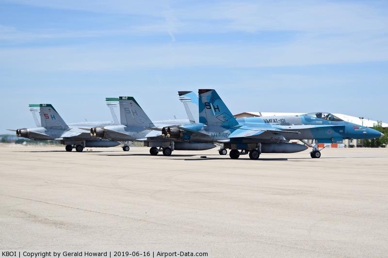 Boise Air Terminal/gowen Fld Airport (BOI) - F/A-18Cs of VMFAT-101