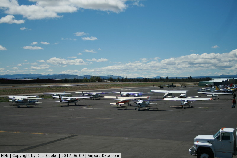 Bend Municipal Airport (BDN) - Looking out over the Field from the Restaurant