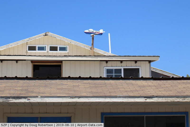 Santa Paula Airport (SZP) - Recent New Wind Tee, (of sorts), also a vision test