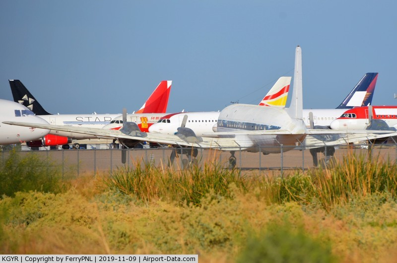 Phoenix Goodyear Airport (GYR) - Some of the aircraft stored in Goodyear Airport Arizona.