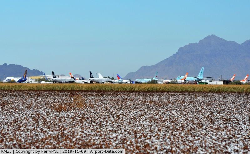 Pinal Airpark Airport (MZJ) - Marana Pinal Airpark located amids the cotton fields near Phoenix, AZ