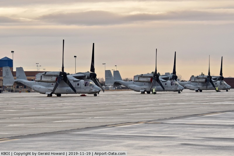 Boise Air Terminal/gowen Fld Airport (BOI) - Three MV-22Bs from VMM-362