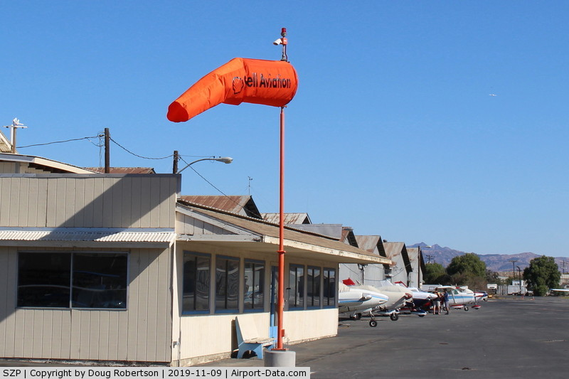 Santa Paula Airport (SZP) - Mid-field Windsock-replaced the tattered one.