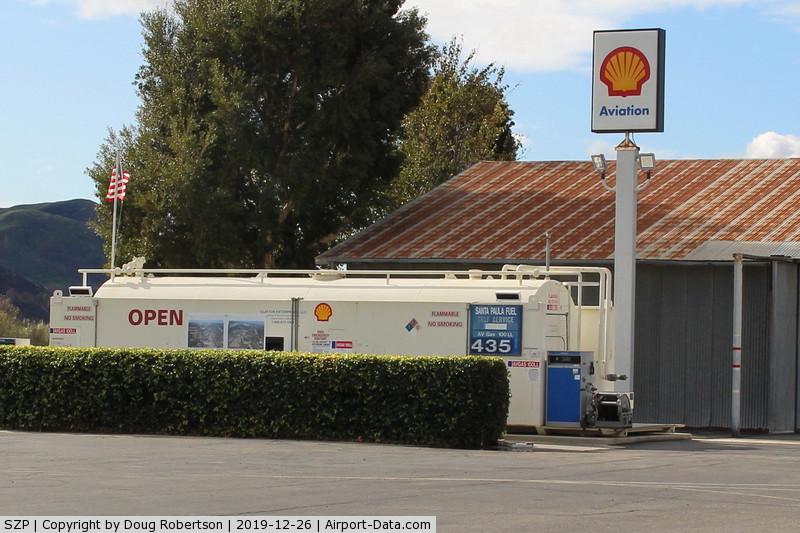 Santa Paula Airport (SZP) - Santa Paula SHELL 100LL Fuel Dock, no price change