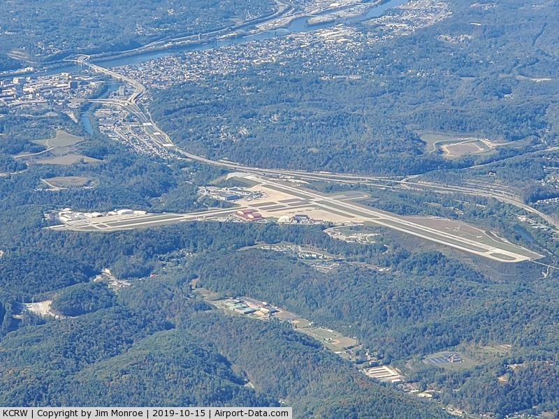 Yeager Airport (CRW) - From 8,000 feet MSL on a trip to Ann Arbor, Michigan