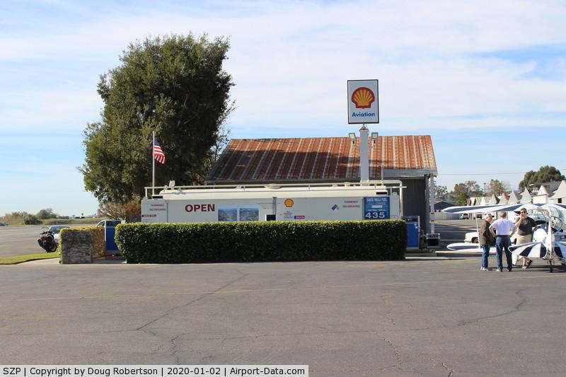 Santa Paula Airport (SZP) - Santa Paula Airport SHELL 100LL Fuel Dock, no price change