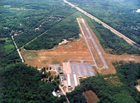 Mansfield Municipal Airport (1B9) - Aerial View - by Town of Mansfield, MA