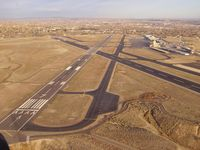 Four Corners Regional Airport (FMN) - Final approach to FMN helipads - by Robert Gross