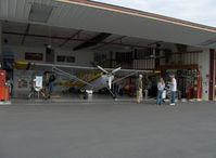 Santa Paula Airport (SZP) - Aviation Museum of Santa Paula, Hangar 7, The Dewey hangar - by Doug Robertson