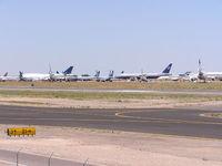 Phoenix Goodyear Airport (GYR) - Airliners in storage at Goodyear Airport (Phoenix) - by John J. Boling