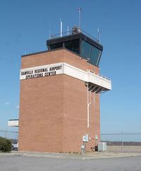 Danville Regional Airport (DAN) - Tower at Danville Regional Airport - by Richard T Davis