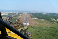 Provincetown Municipal Airport (PVC) - landing at Provincetown Municipal, steep approach - by Christoper Sowley