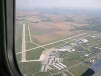 St Louis Regional Airport (ALN) - Leaving the area after a few touch and gos in a C.152.  Summer 2005 - by Chris Declama