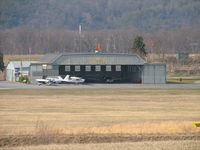 Danville Airport (8N8) - Looking down onto the Hanger and airport office from the runway. - by Sam Andrews