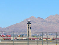 Mc Carran International Airport (LAS) - The old ATCT with Sunrise Mountain in the background. - by Brad Campbell