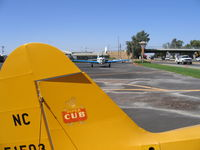 Lodi Airport (1O3) - Lodi (CA) Airport Cafe at end of runway and Highway 99 - by Steve Nation