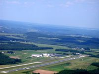 Dubois Regional Airport (DUJ) - Dubois, departing to south in C172 - by L. Coulston