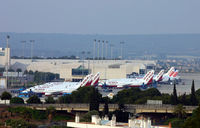 Palma de Mallorca Airport (or Son Sant Joan Airport), Palma de Mallorca Spain (PMI) - Overlooking Palma, Mallorca airport from my hotel room. - by Kevin Murphy