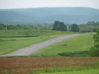Penns Cave Airport (N74) - approach end to rwy7 from the next hill over - by Sam Andrews
