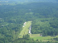 Vashon Municipal Airport (2S1) - Small with tall trees at each end! - by John Franich