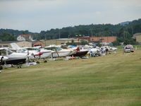 Frederick Municipal Airport (FDK) - The flight line at the 2006 AOPA Fly-in. - by Sam Andrews