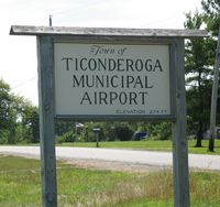 Ticonderoga Municipal Airport (4B6) - airport entrance sign - by Timothy Aanerud