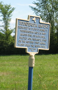 Ticonderoga Municipal Airport (4B6) - historical marker - by Timothy Aanerud
