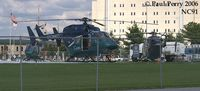 Pitt County Memorial Hospital Heliport (NC91) - All three Eastcare helos taking a break - by Paul Perry