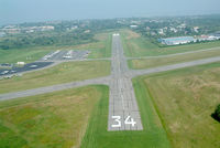 Newport State Airport (UUU) - Detail of the RWY 34 Threshold - by Stephen Amiaga