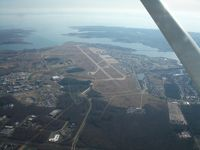 Langley Afb Airport (LFI) - Aerial view of KLFI and vicinity - by Tim Timmons