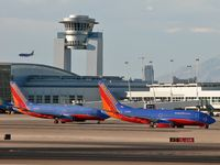 Mc Carran International Airport (LAS) - McCarran's ATCT and Southwest Airlines all around. - by Brad Campbell