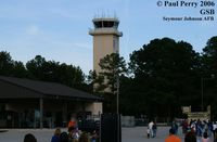 Seymour Johnson Afb Airport (GSB) - Control Tower with airshow crowd in the foreground - by Paul Perry
