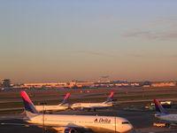 Hartsfield - Jackson Atlanta International Airport (ATL) - South African A340-600 landing in distance - by Florida Metal