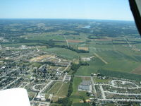 Hanover Airport (6W6) - Flying west and you can see the airport slightly right of center - by Herb Harris