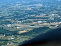 York Airport (THV) - passing York airport heading east - by Herb Harris