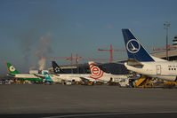 Vienna International Airport, Vienna Austria (VIE) - Ramp overview with the new terminal under construction in the background - by Yakfreak - VAP
