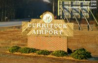 Currituck County Regional Airport (ONX) - The welcome sign, complete with a seal - by Paul Perry