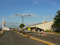 Trenton Mercer Airport (TTN) - This is the passenger terminal; general aviation is located at the other end.  As you can see, security is tight at this little airport. - by Daniel L. Berek