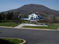 Giles Memorial Hospital Heliport (55VA) - Giles Memorial Helipad (Shown with Carilion LifeGuard-10, which is operated by Air Methods - by S.K. Vaughn