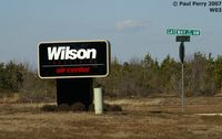 Wilson Industrial Air Center Airport (W03) - Wilson's new sign.  Very modern - by Paul Perry