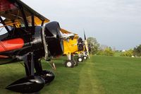 Antique Airfield Airport (IA27) - Flight Line Antique Airfield - by Floyd Taber
