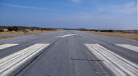 Billy Mitchell Airport (HSE) - Looking down Rwy 7 - by Nigel Hay