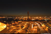 Phoenix Sky Harbor International Airport (PHX) - Delay at night @ KPHX - by Jeremy Irish