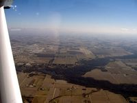 Goshen Municipal Airport (GSH) - looking east to the runway - by John Woody
