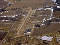 Mason Jewett Field Airport (TEW) - looking east to the runway - by John Woody