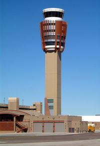 Phoenix Sky Harbor International Airport (PHX) - The new tower before it opened... - by Stephen Amiaga