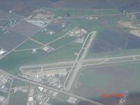 Hollister Municipal Airport (CVH) - Overhead Hollister - by Shale Parker