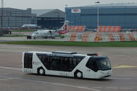Manchester Airport, Manchester, England United Kingdom (EGCC) - Manchester Airport Bus - by David Burrell