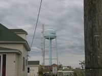 Tangier Island Airport (TGI) - The water tower tells you where you are. - by Sam Andrews