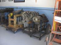 Santa Paula Airport (SZP) - Early Aircraft Engines in Watson Hangar-Aviation Museum of Santa Paula, from left to right-DH Gipsy I, DH Gipsy II, DH Gipsy II, Curtiss OX5, DH Gipsy Major I - by Doug Robertson
